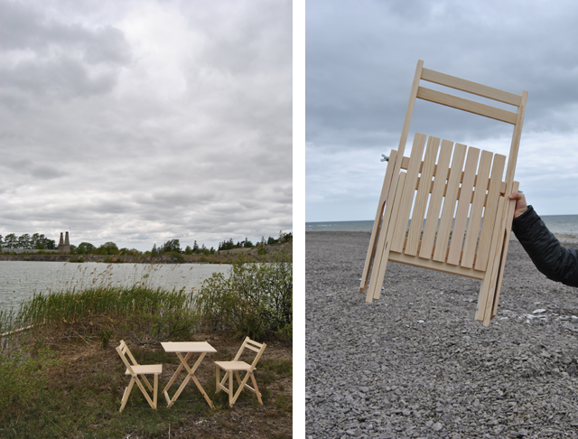 Bungenäs furniture set and folded chair